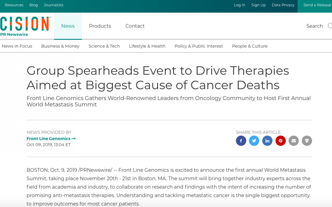 Group Spearheads Event to Drive Therapies Aimed at Biggest Cause of Cancer Deaths