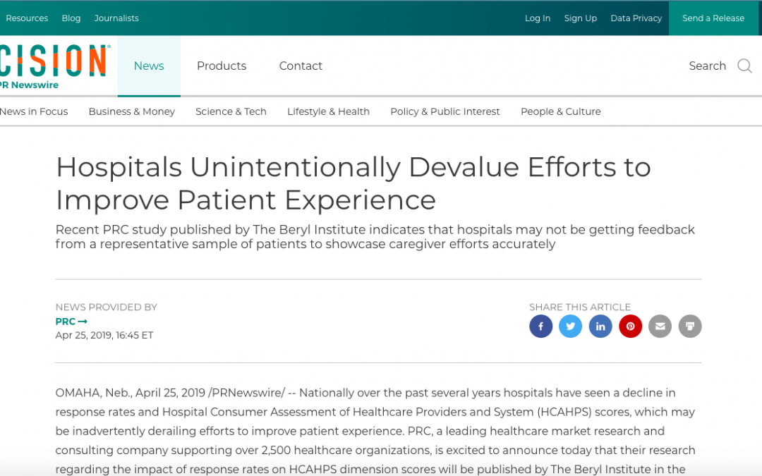Hospitals Unintentionally Devalue Efforts to Improve Patient Experience