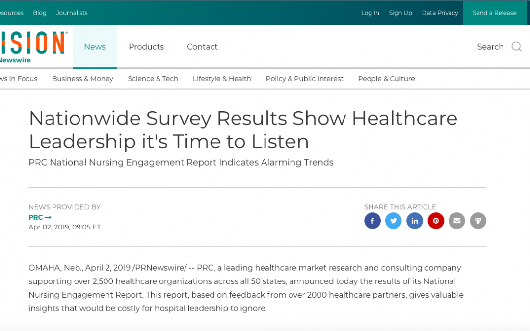 Nationwide Survey Results Show Healthcare Leadership it's Time to Listen